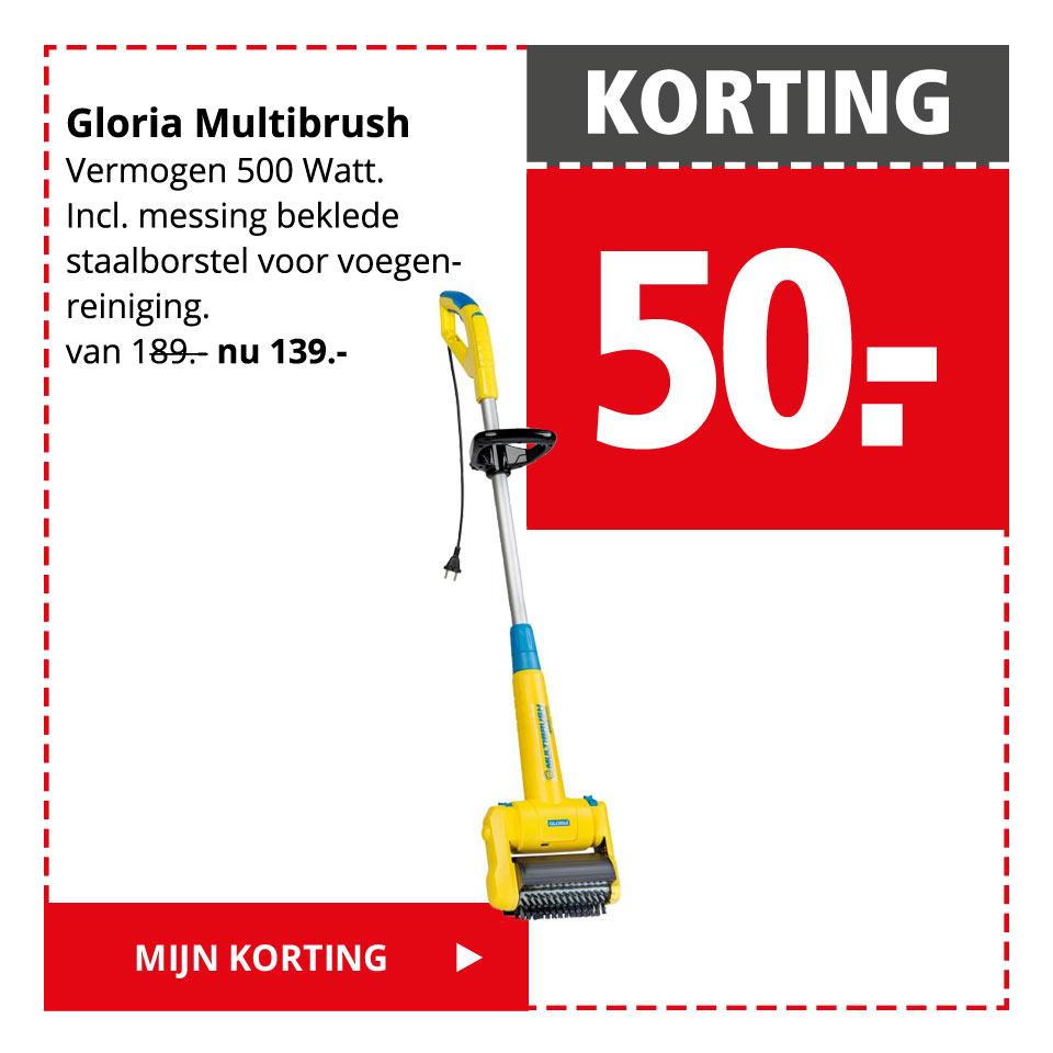 KORTING 50.- | Gloria Multibrush | Mijn korting >