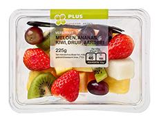 100% recyclebare plastic verpakking voor vers gesneden fruit