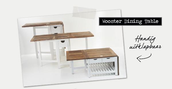 Wooster Dining Table | Handig uitklapbaar