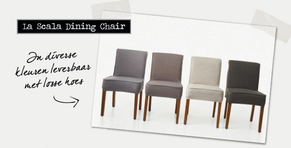 La Scala Dining Chair | In diverse kleuren leverbaar | Met losse hoes