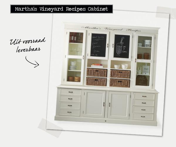 Martha's Vineyard Recipes Cabinet | Uit voorraad leverbaar